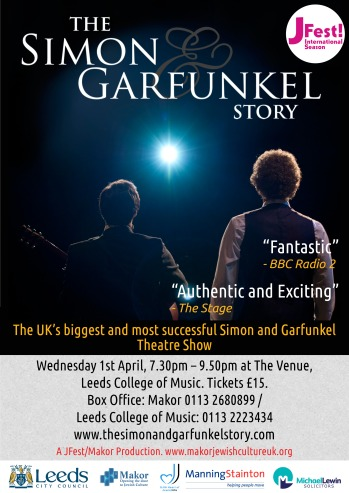 Simon & Garfunkel Story A4 Flyer