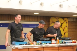 Elliot Landy, Jonny Mac and Daniel Gray go head to head in the fun cook off!